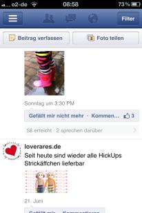 Facebook-Seitenmanager am Beispiel von loverares.de